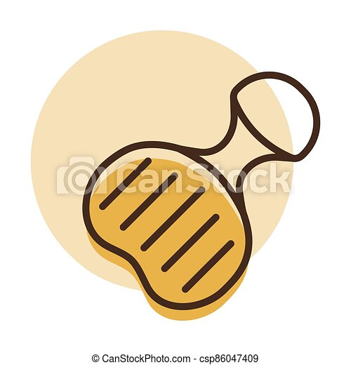 Plastic sled vector icon. Winter sign - csp86047409