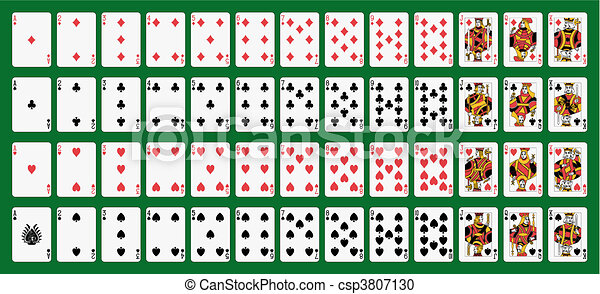 Playing cards - csp3807130