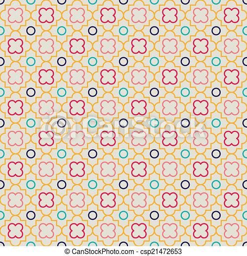 Quatrefoil Lattice Pattern - csp21472653