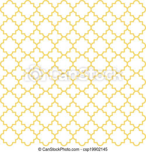 Quatrefoil Lattice Pattern - csp19902145
