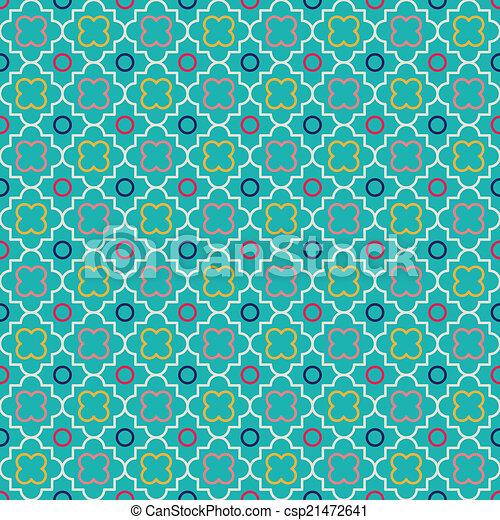 Quatrefoil Lattice Pattern - csp21472641