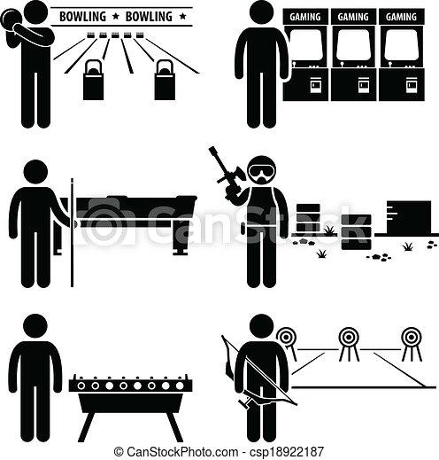 Recreational Leisure Games Clipart - csp18922187