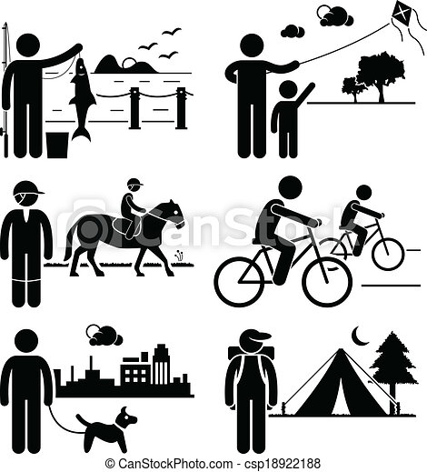 Recreational Outdoor Leisure People - csp18922188