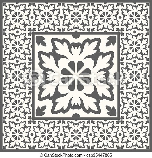 Retro Floor Tiles patern - csp35447865