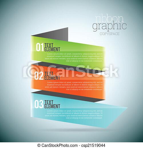 Ribbon Graphic Copyspace - csp21519044