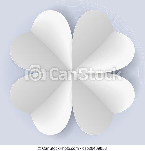 Romantic origami - csp20409853