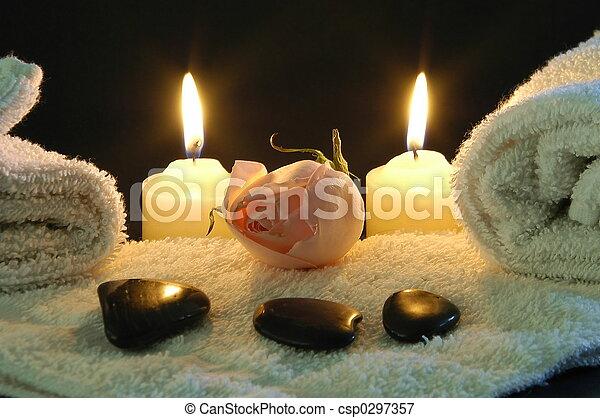 romantic spa night - csp0297357