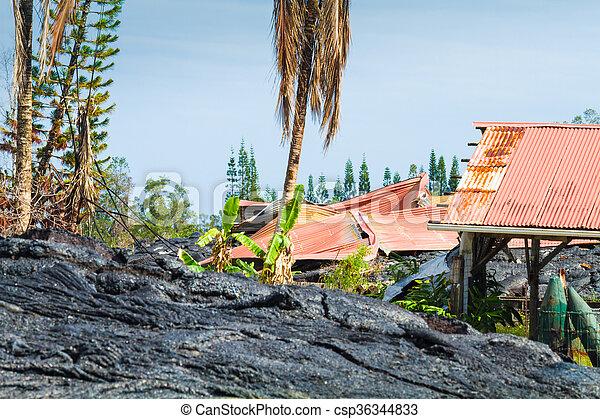 Ruined home - csp36344833