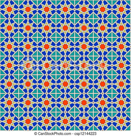 Seamless Moroccan pattern background - csp12144223
