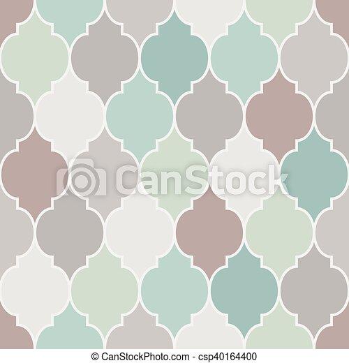 Seamless moroccan pattern vector - csp40164400