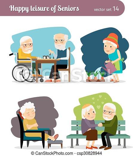 Seniors happy leisure - csp30828944