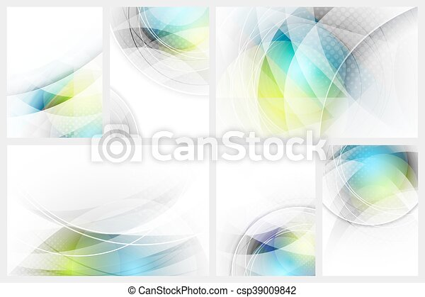 Set of abstract glowing background with space for your content. - csp39009842