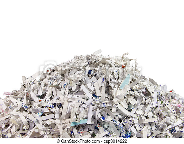 Shredded documents - csp3014222