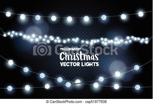 silver glowing christmas lights collection - csp51977838