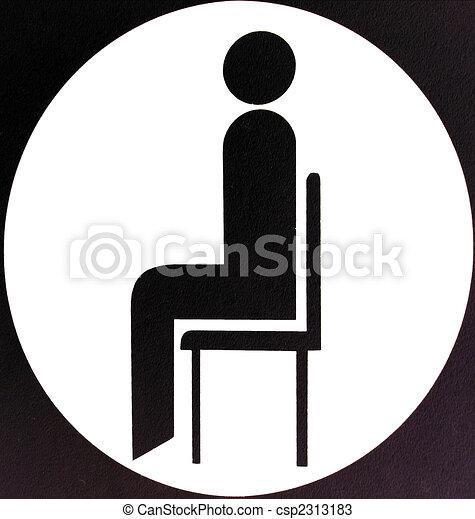 Sitting area sign - csp2313183