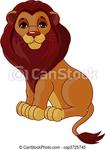 Sitting Lion - csp3725745