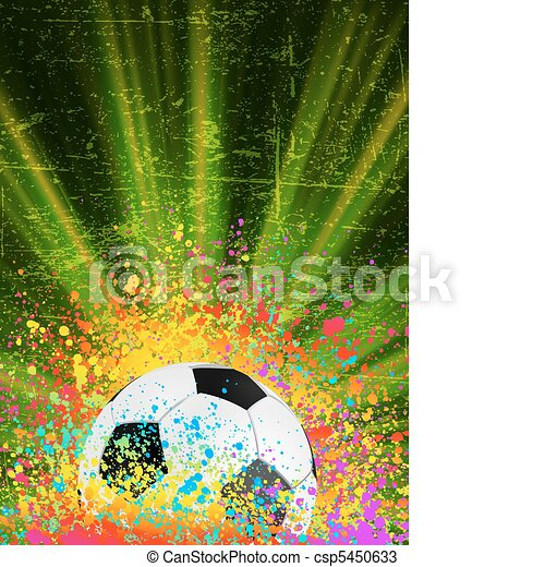 Soccer background with copyspace. EPS 8 - csp5450633