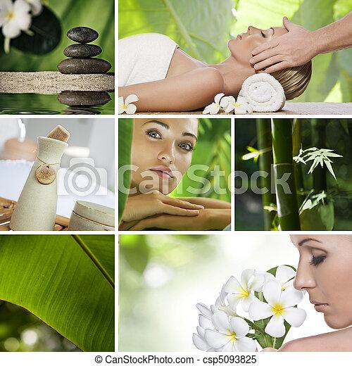 spa collage - csp5093825