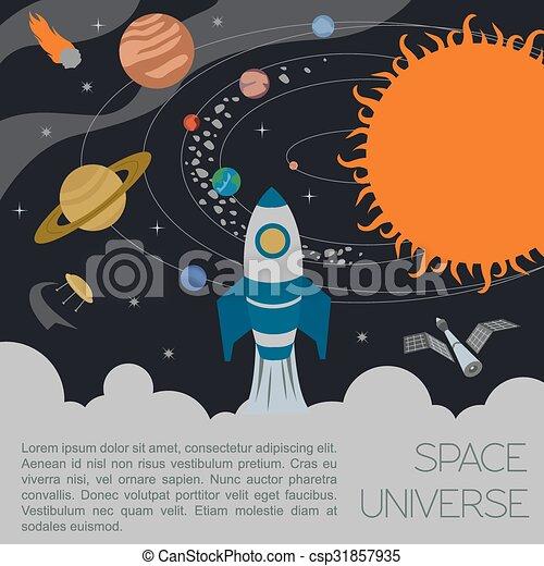 Space, universe infographic - csp31857935