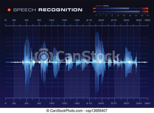 Speech Recognition Spectrum Analyze - csp13689407