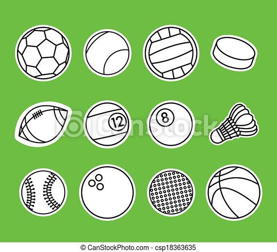 Sport Balls - csp18363635