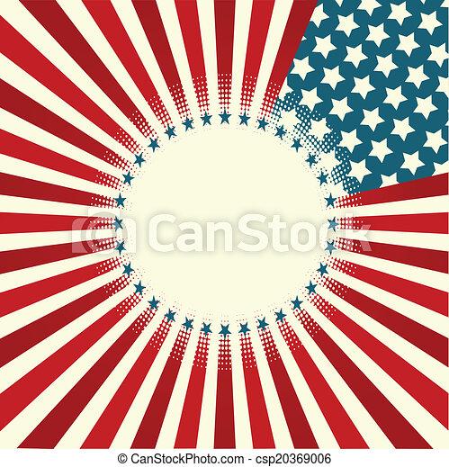 Star and Stripe Banner - csp20369006