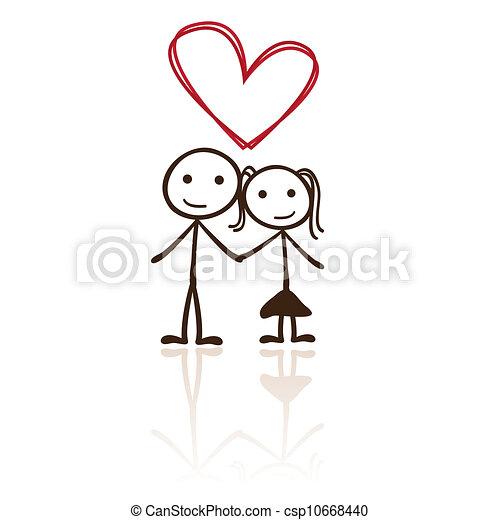 stick figure couple - csp10668440