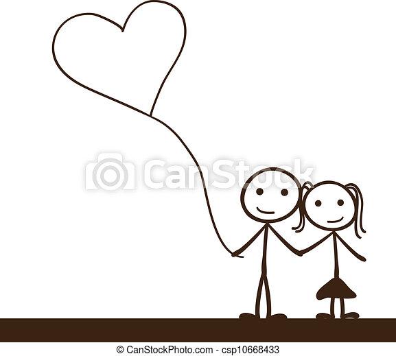 stick figure couple - csp10668433