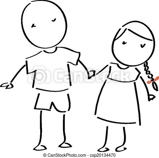 Stick figure couple - csp20134470