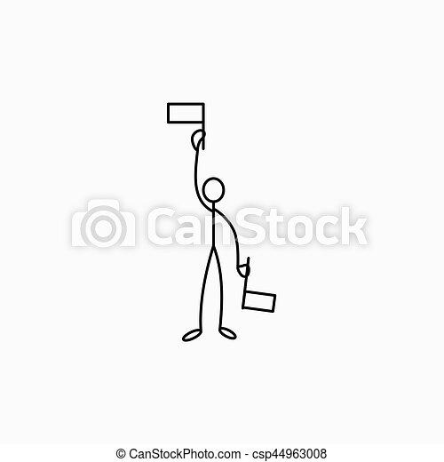 Stick figure man referee - csp44963008