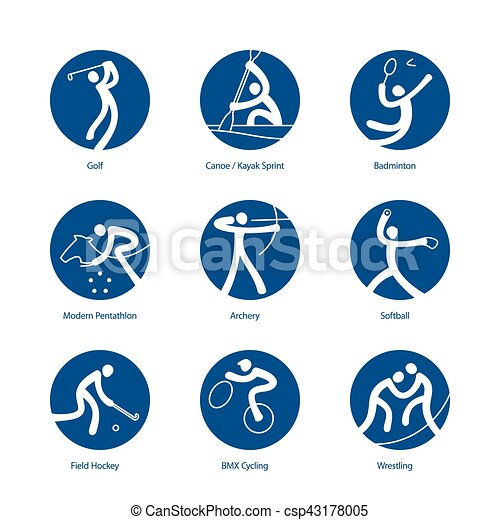 Summer Sports pictograms - csp43178005