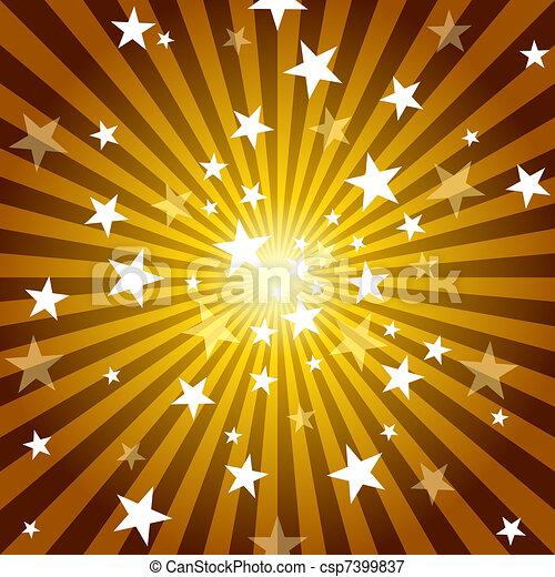 Sun Rays and Stars - csp7399837
