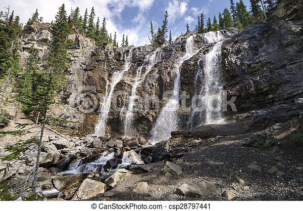 Tangle Creek Falls in Canada - csp28797441