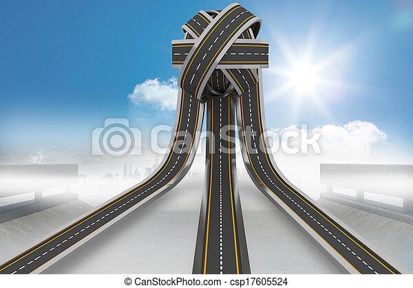 Tangled roads in a ball - csp17605524