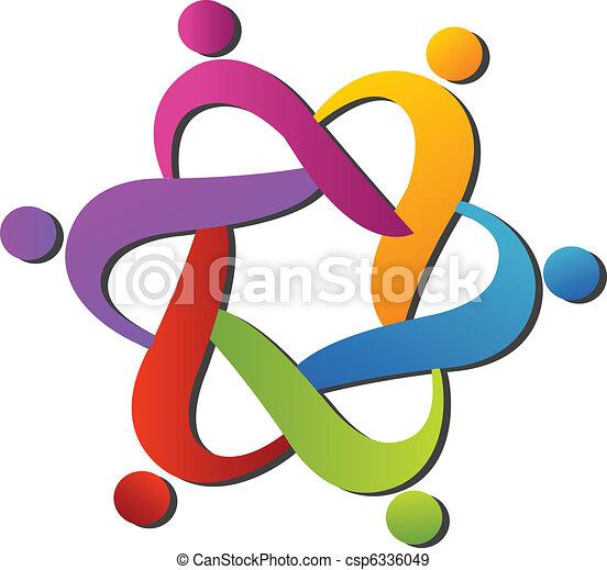 Team helping logo - csp6336049