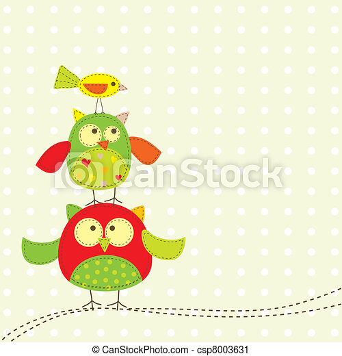 Template greeting card, vector - csp8003631