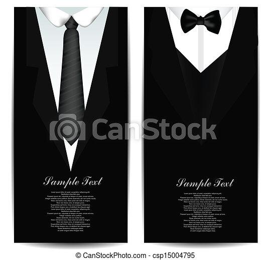 Tie Business cards - csp15004795