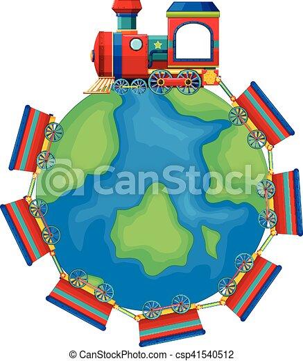 Train riding around the world - csp41540512
