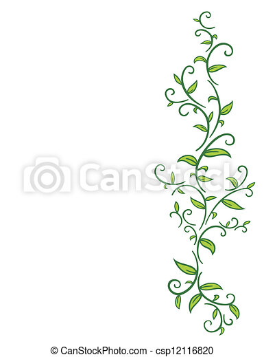 Tribal Vine with Leaves - csp12116820