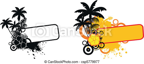 tropical flower copyspace set9 - csp5779977