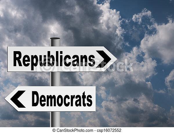 US politics - Republicans Democrats - csp16072552