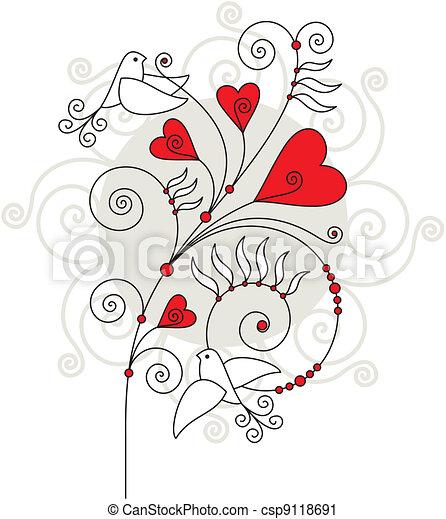 valentine day greeting card - csp9118691