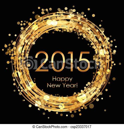 Vector 2015 glowing background - csp23337017