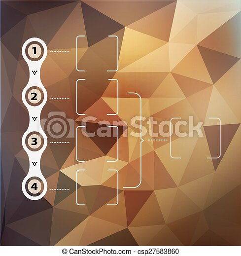 Vector abstract background with triangles and infographics elements - csp27583860