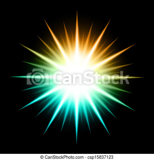 Vector Abstract Background With Glowing Star - csp15837123