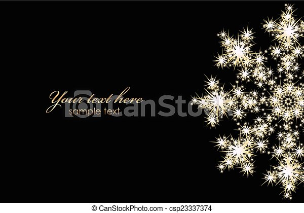 Vector background with glowing snowflake - csp23337374