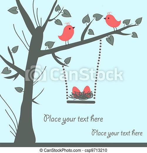 Vector Bird Card - csp9713210
