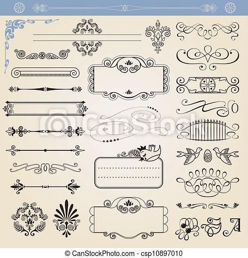 Vector calligraphic decorations - csp10897010