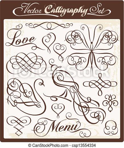 Vector Calligraphy 00 - csp13554334