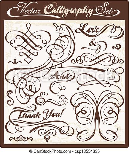 Vector Calligraphy 01 - csp13554335